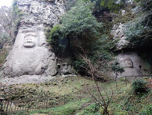 Kumano Magaibutsu Stone Buddha