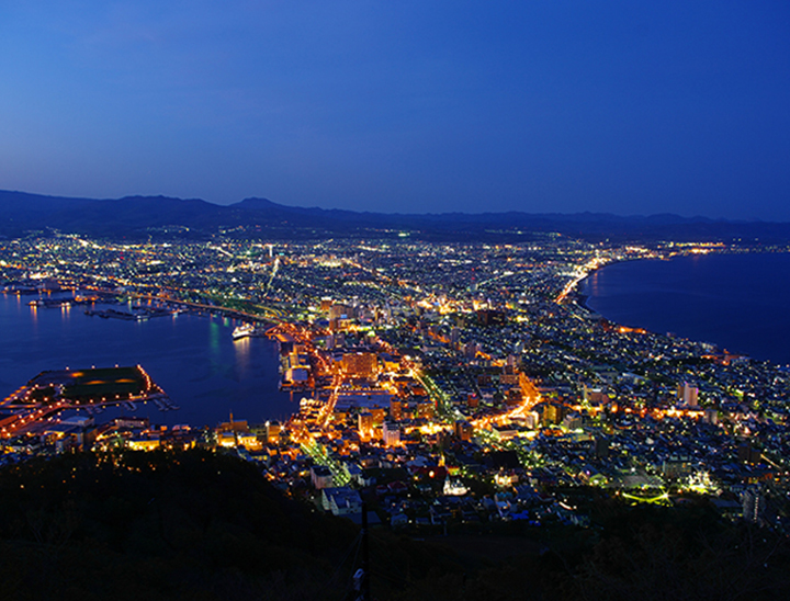 Night view in Hakodate