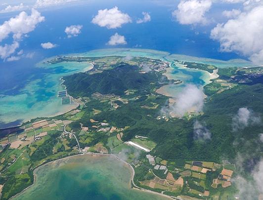 Aerial view of Ishigaki Island