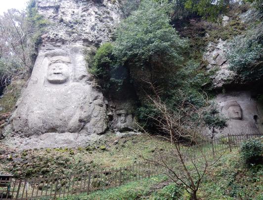Kumano Magaibutsu (Stone Buddha) , Kunisaki Peninsula, Oita
