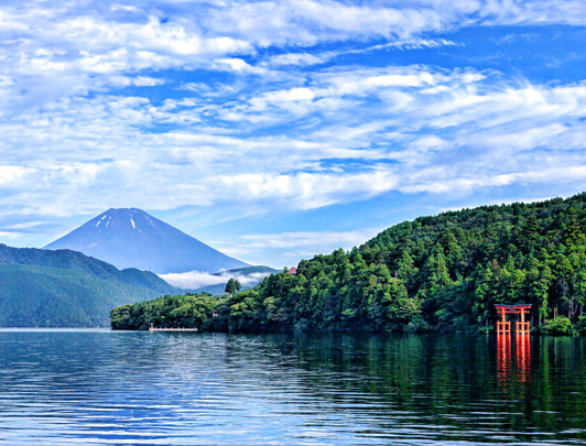 Lake Ashi  & Mt Fuji