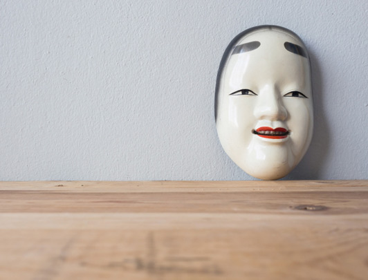 Noh performance mask