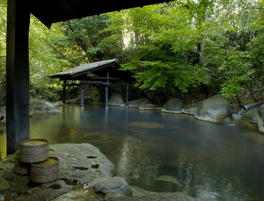 Ryokan Sanga, Open Air Bath