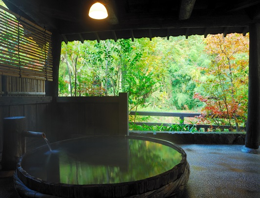 Sanga, Kurokawa Onsen_ Open Air Bath for private hire