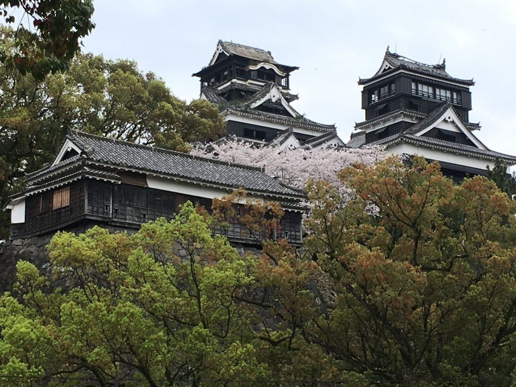 Kumamoto Castle in April