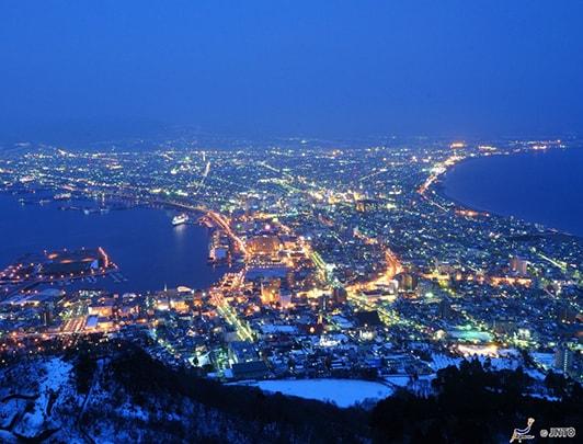 illuminations et paysages d'hiver