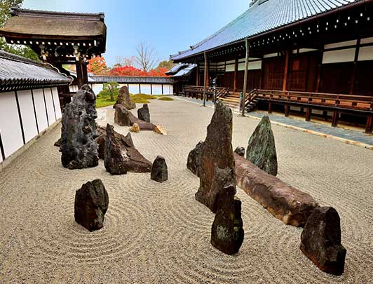 Southern Garden of Tofuku-ji Temple's Hojo (Abbot's Hall), Kyoto, Japan