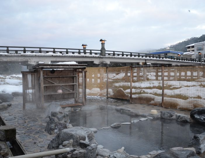 rotenburo bain extérieur misasa onsen japon tottori
