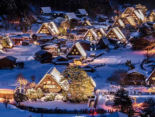 UNESCO heritage site of Shirakawago