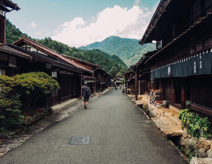 village tsumago japon ancienne route de nakasendo