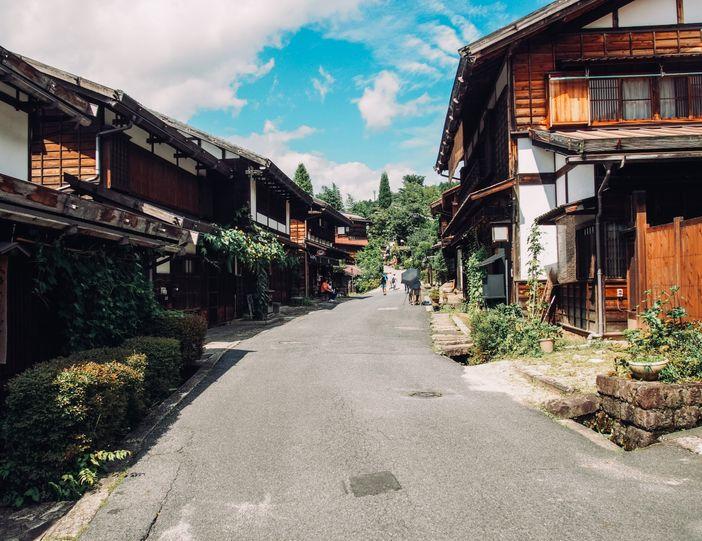 paysage de la campagne japonaise tsumago