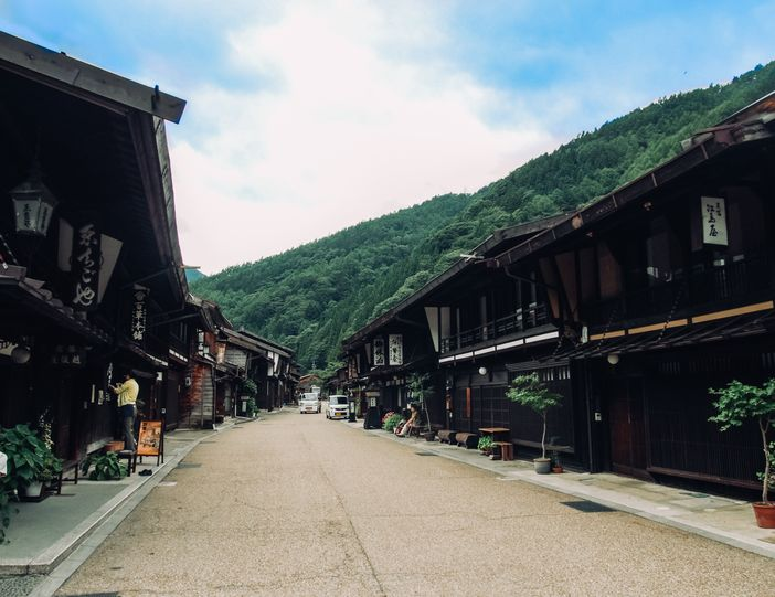narai juku village japon route nakasendo