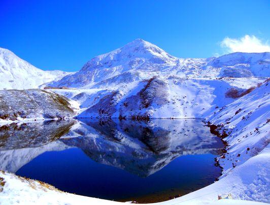 Murodo en hiver sur l'Alpine Route