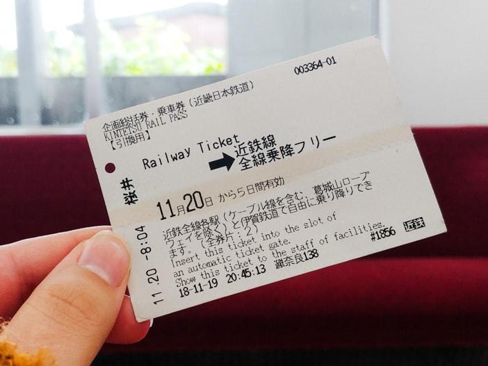 Kintetsu 5 Day pass