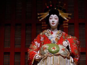 Costume traditionnel de Kabuki au musée Edo Tokyo